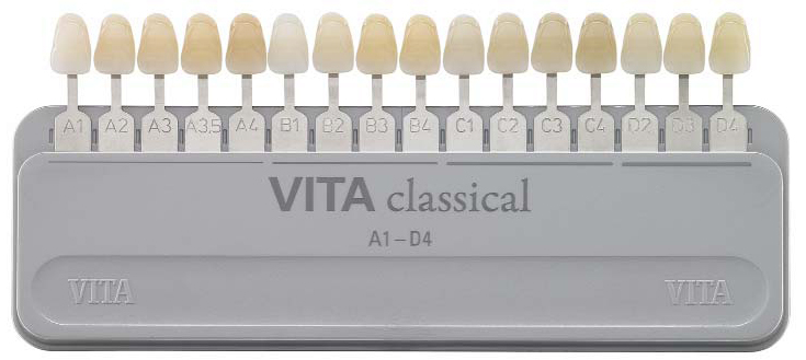 таблица цвета Vita